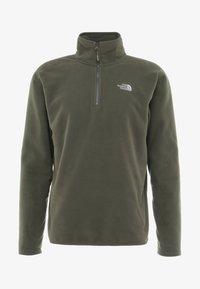 The North Face - MENS GLACIER 1/4 ZIP - Bluza z polaru - new taupe green - 3