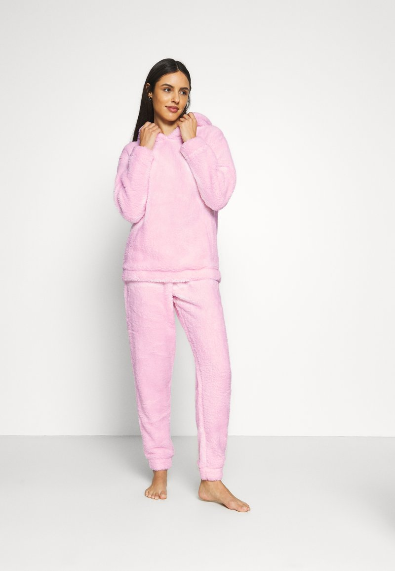 Loungeable - PINK BUNNY HOODED TWOSIE SET - Pyjamas - pink