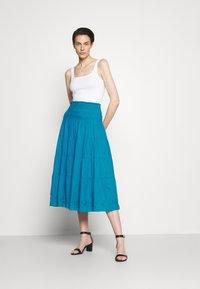 Lauren Ralph Lauren - LUHANNA PEASANT SKIRT - Pleated skirt - summer topaz - 1