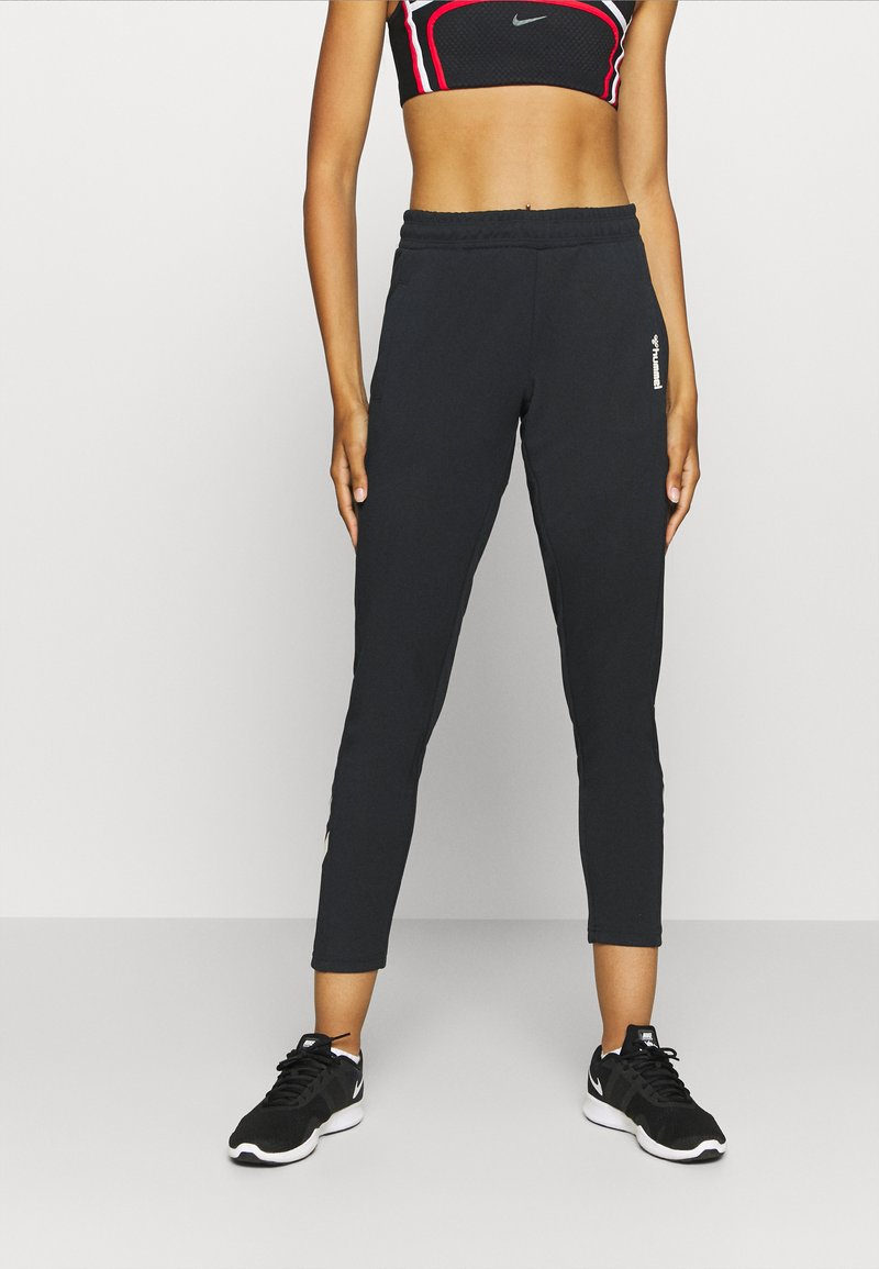Hummel - HMLZIBA TAPERED PANTS - Pantalon de survêtement - black