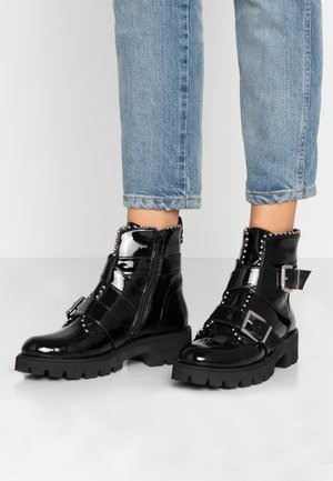 HOOFY - Cowboy/biker ankle boot - black