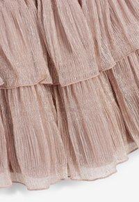 Next - SPARKLE TIERED - A-line skirt - pink - 1
