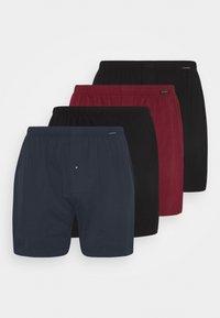4 PACK - Boxer shorts - black/dark blue/dark red