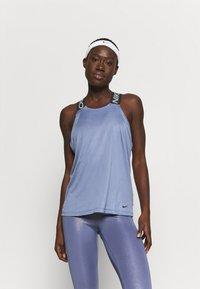 Nike Performance - DRY ELASTIKA TANK - Sports shirt - world indigo/black - 0