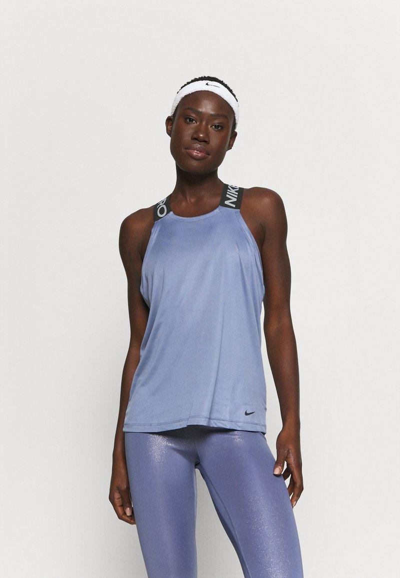 Nike Performance - DRY ELASTIKA TANK - Sports shirt - world indigo/black