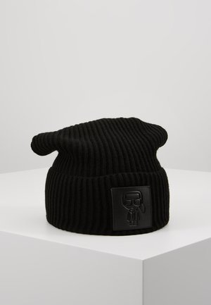 IKONIK PATCH BEANIE - Bonnet - black