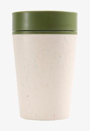 KAFFEEBECHER TO GO MIT DECKEL - 227ml - Övriga accessoarer - weiß / grün
