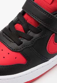 Nike Sportswear - COURT BOROUGH 2 - Sneakers - black/university red/white - 5