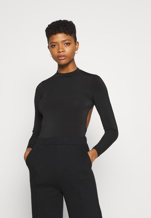 MYRA OPEN BACK - Long sleeved top - black