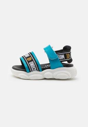 UNISEX - Sandals - blue/black