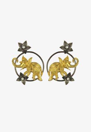 AIRAVATA GOLDEN ELEPHANT - Orecchini - black