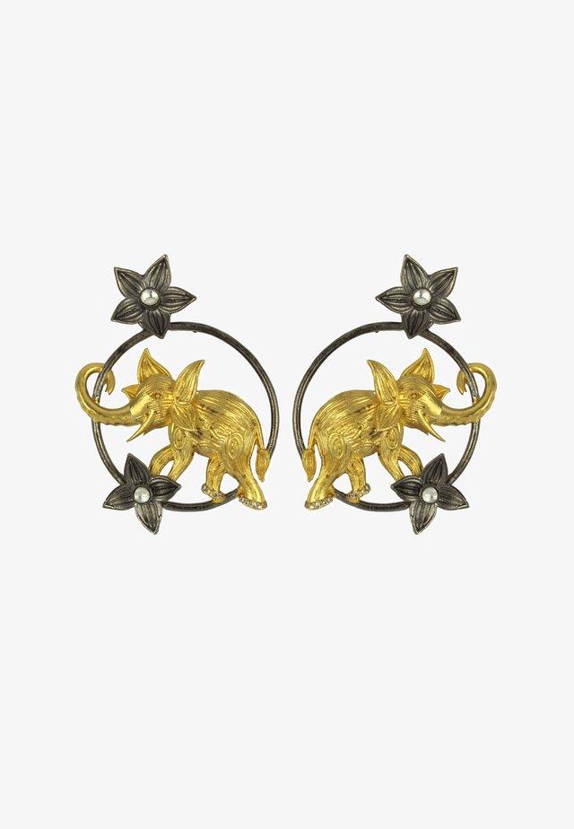 AIRAVATA GOLDEN ELEPHANT - Boucles d'oreilles - black