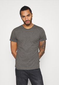 Burton Menswear London - SHORT SLEEVE CREW 7 PACK - T-shirt basic - black - 1