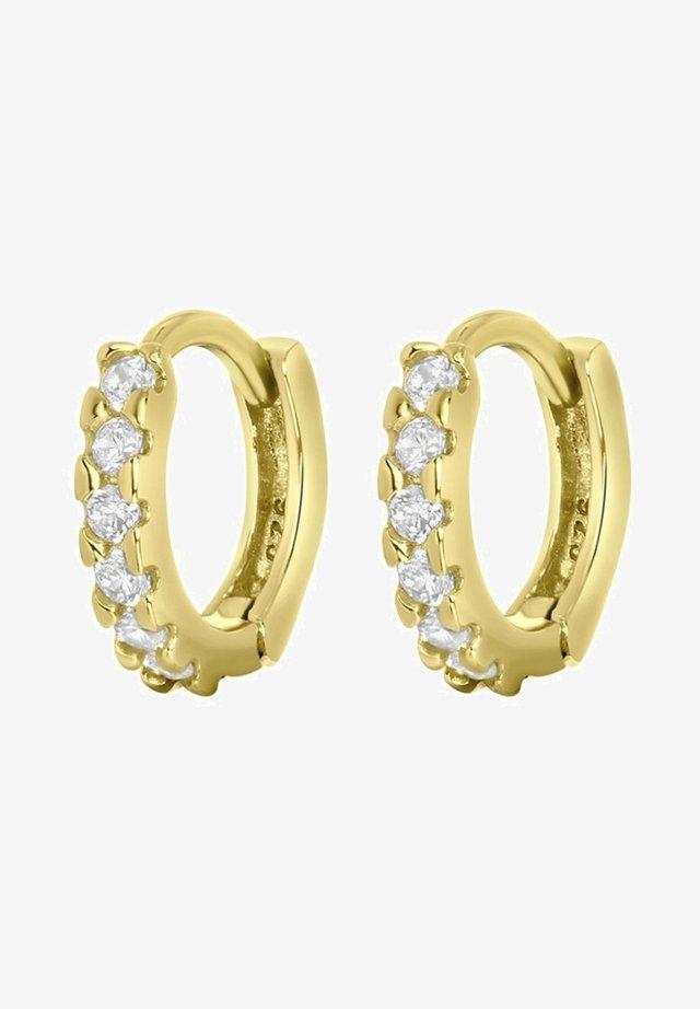Boucles d'oreilles - goudkleurig/wit