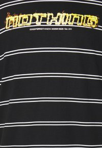 Good For Nothing - OVERSIZED FLAME STRIPE UNISEX - Triko s potiskem - black - 2