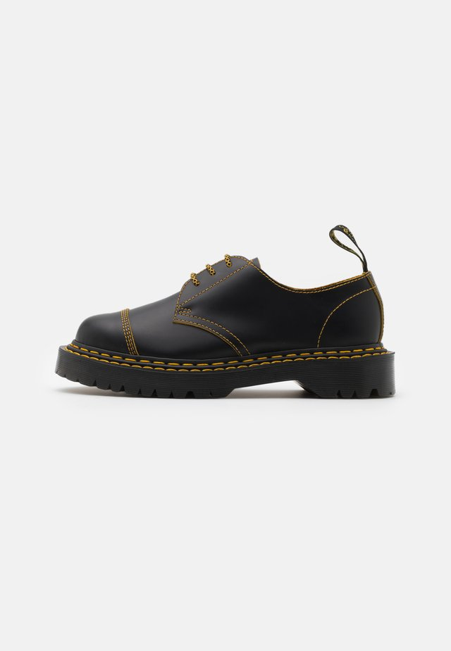 1461 BEX UNISEX - Lace-ups - black/yellow/smooth slice