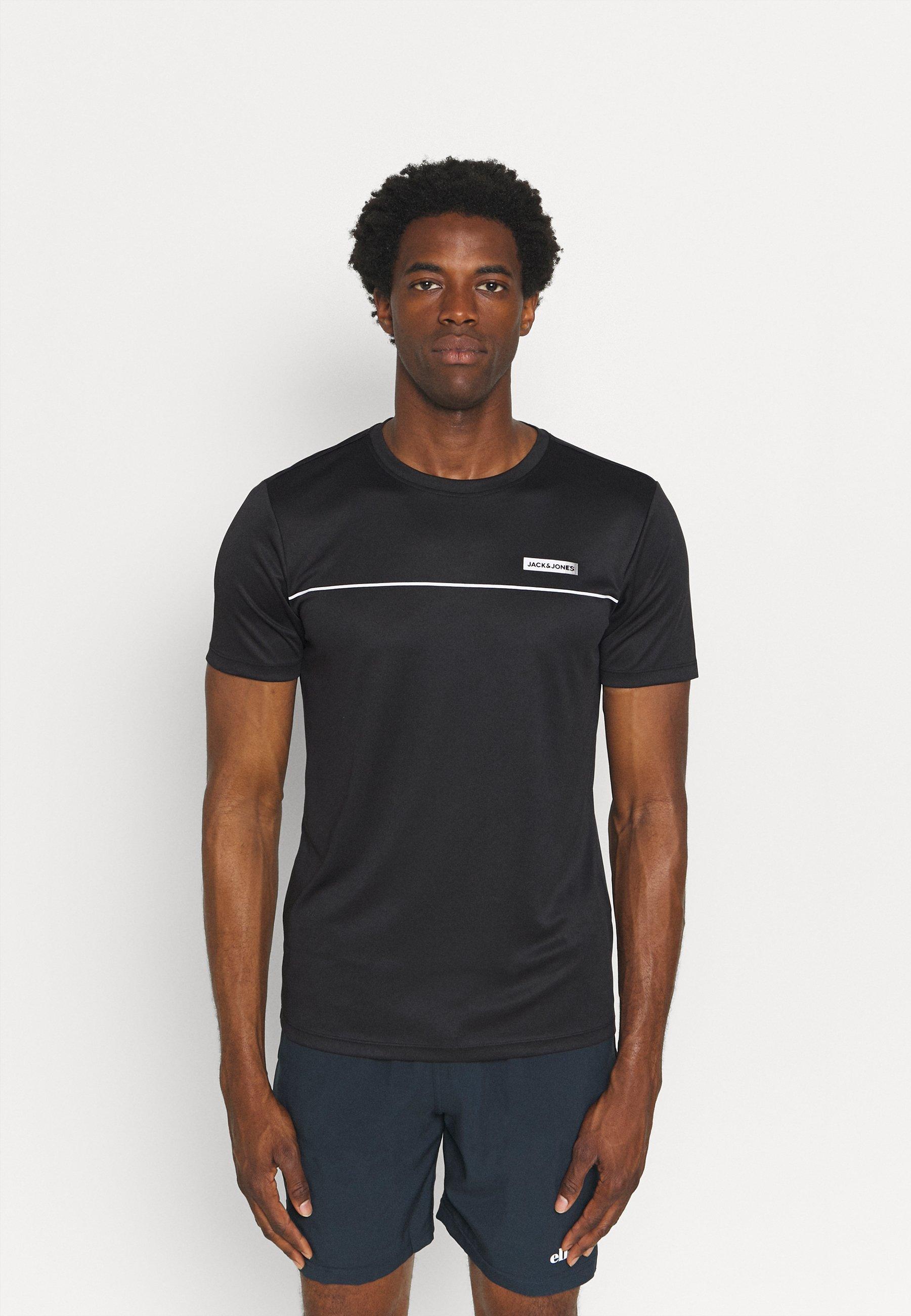 Men JCOZSS PERFORMANCE TEE 2 PACK - Print T-shirt - black/forest night