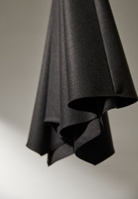 Massimo Dutti - MIT ZACKEN AM SAUM - Spódnica trapezowa - dark grey - 4