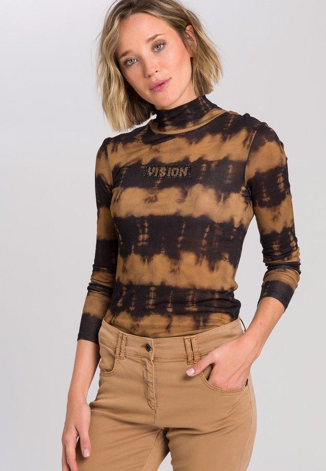 Long sleeved top - black varied