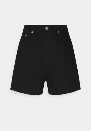 RIOT RAW HEM HIGHWAISTED MOM  - Shortsit - black