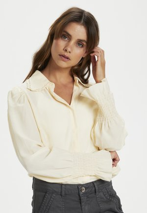 CRKULINA - Button-down blouse - eggnog