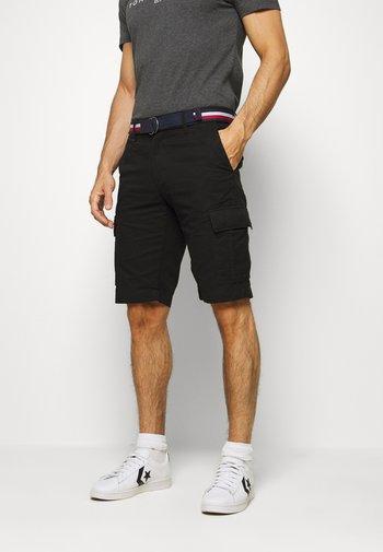 JOHN CARGO - Cargo trousers - black