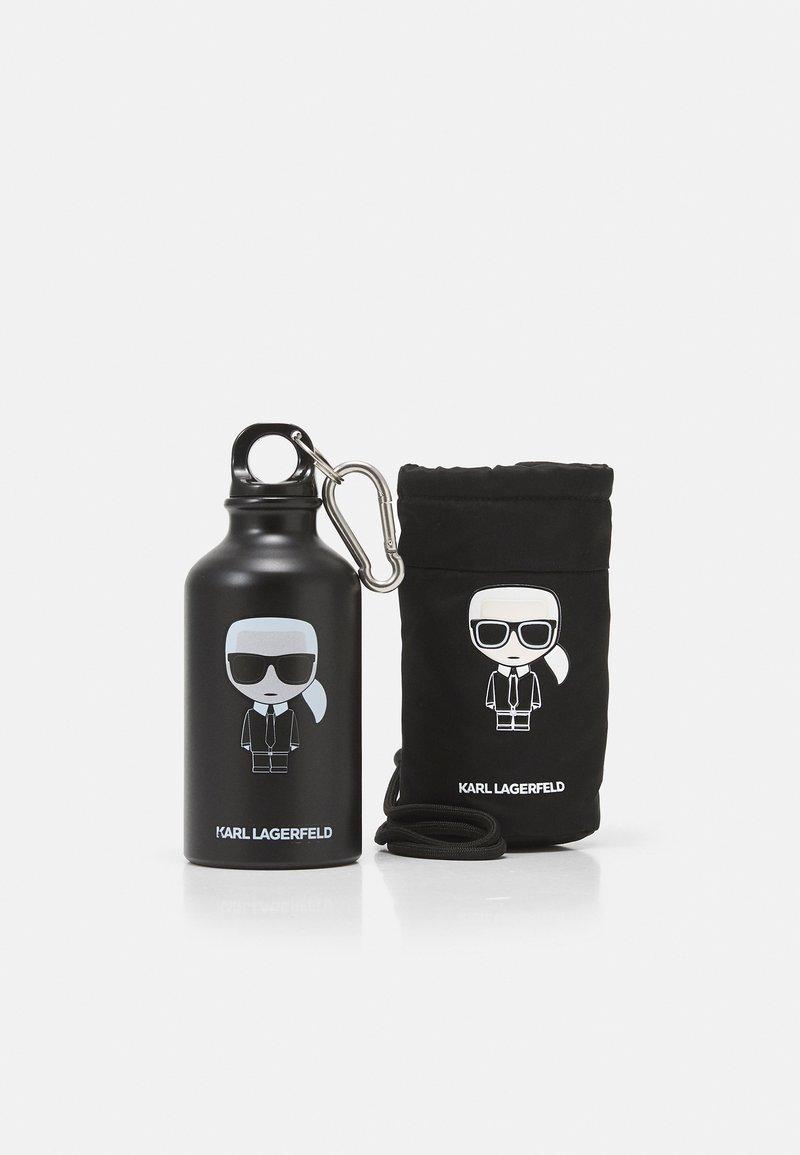 KARL LAGERFELD - IKONIK WATER BOTTLE & HOLDER 360 ml - Otros accesorios - black