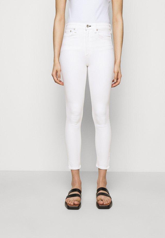NINA ANKLE  - Skinny džíny - white