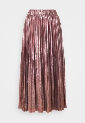 LADIES SKIRT - Pleated skirt - silvery pink