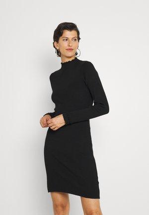 ASHLEE FRIL HEM DRESS - Pouzdrové šaty - black