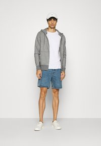 GANT - THE ORIGINAL FULL ZIP HOODIE - Zip-up hoodie - dark grey - 1
