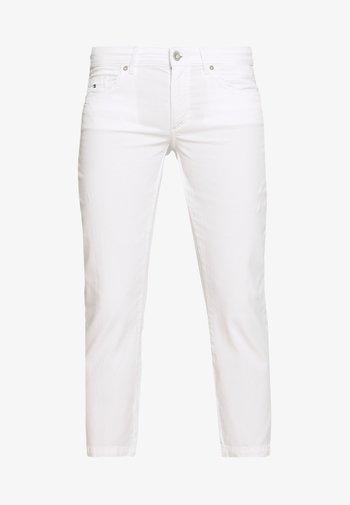 5 POCKET MID WAIST SLIM LEG - Trousers - white
