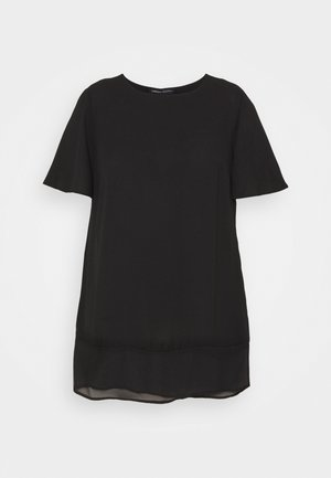 SHEER HEM - Blouse - black