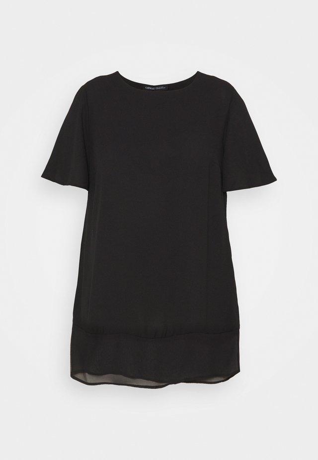 SHEER HEM - Camicetta - black