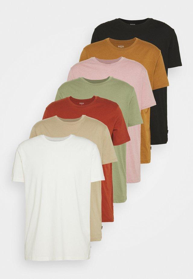 7 PACK - T-shirt basic - multi