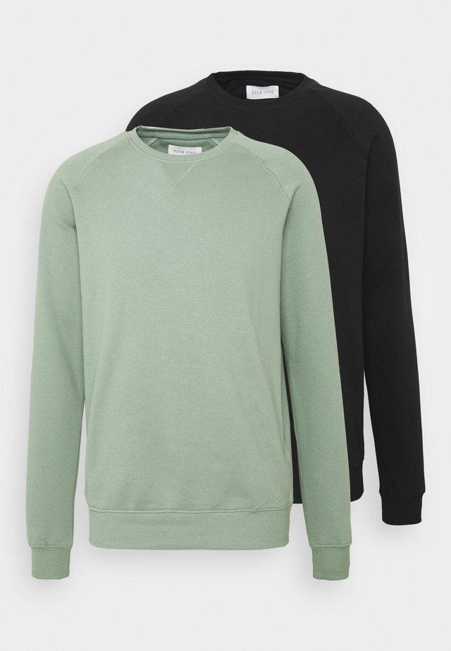 2 PACK - Sweatshirt - sage/black