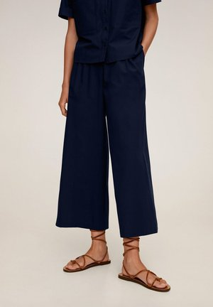 RICKY-H - Trousers - marineblauw