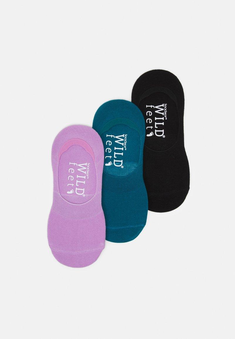 Wild Feet - WILDFEET INVISIBLE SOCKS 3 PACK - Enkelsokken - multi-coloured