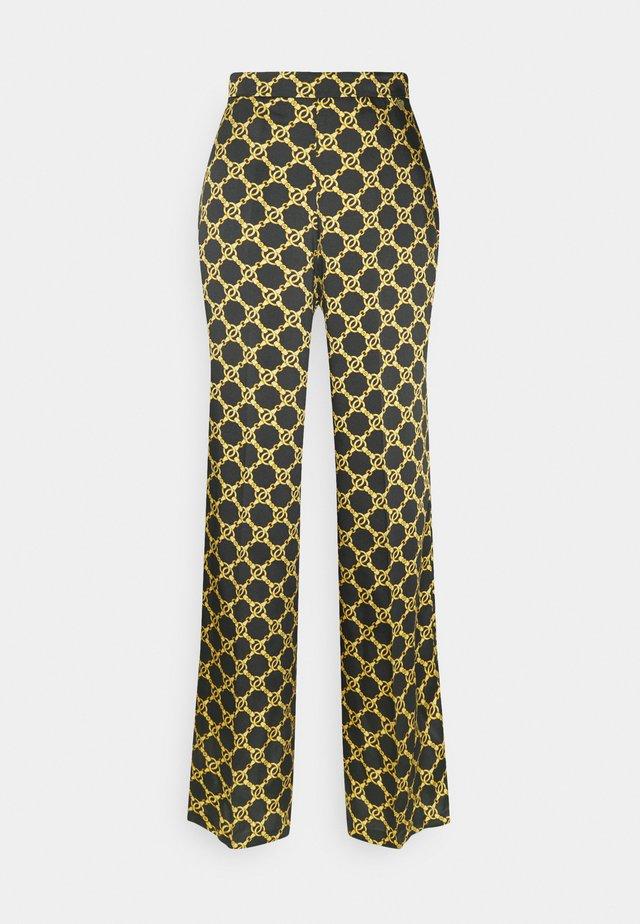 Trousers - nero/oro