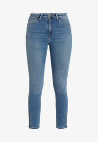 SCARLETT HIGH ZIP - Jeansy Skinny Fit - blue aged