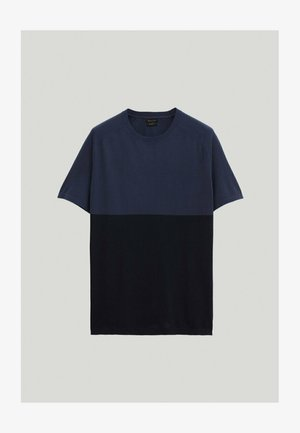 T-Shirt print - blue-black denim