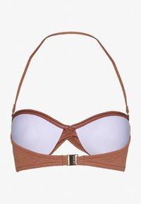 Seafolly - STARDUSTTWIST BANDEAU - Bikini top - bronze - 1