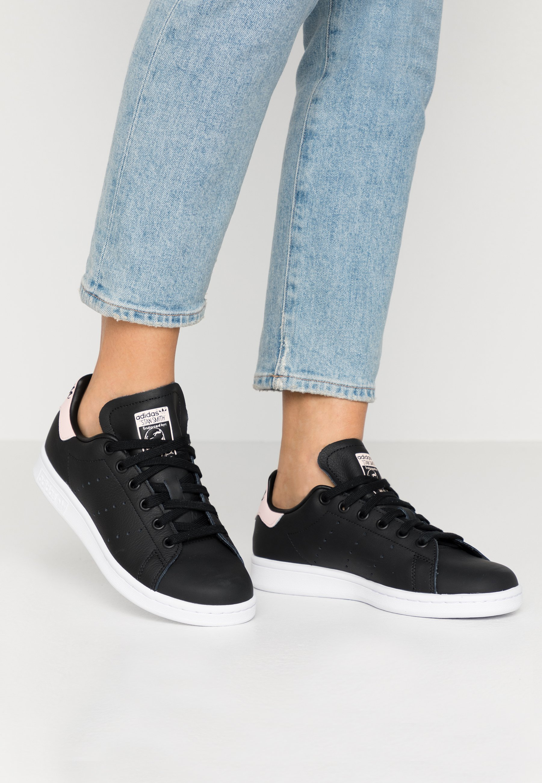 STAN SMITH - Baskets basses - core black/ice pink/footwear white