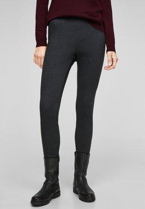 SLIM FIT - Leggings - Trousers - black glencheck