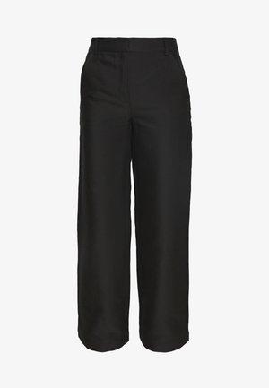 HAILEY FLARE - Spodnie materiałowe - black