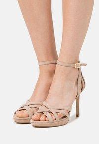 Anna Field - LEATHER - High heeled sandals - beige - 0