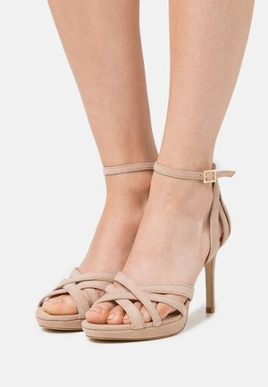 LEATHER - Sandalen met hoge hak - beige