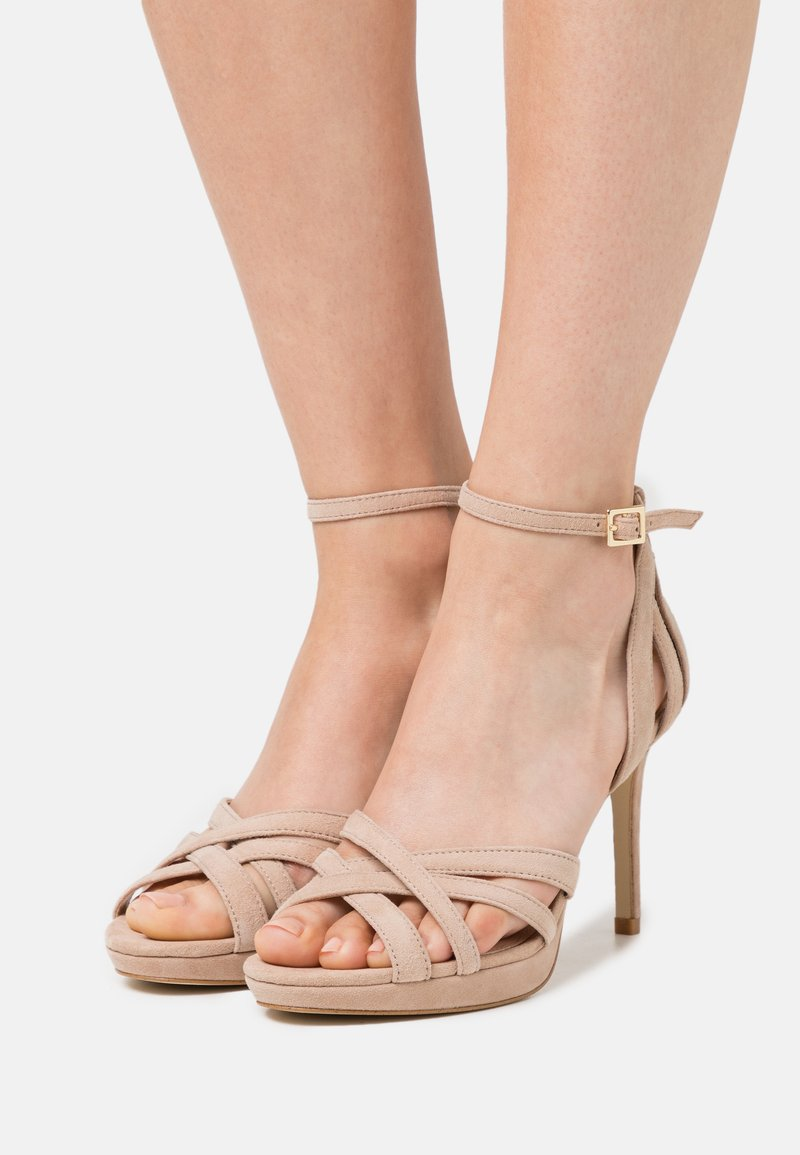 Anna Field - LEATHER - High heeled sandals - beige