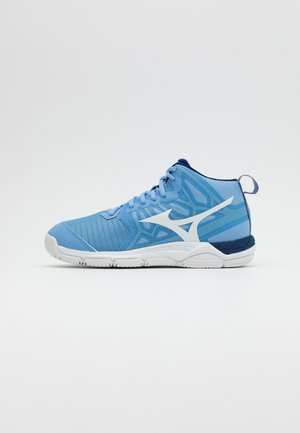 WAVE SUPERSONIC 2 MID - Volleyball shoes - dellarblue/white