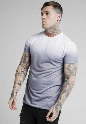 HIGH FADE TEE - T-shirt con stampa - white/grey